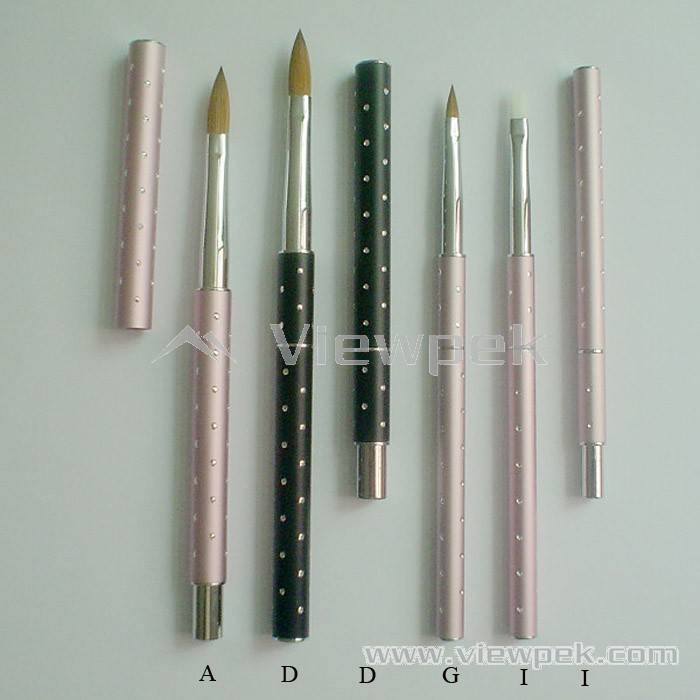 Nail Art Acrylic Brushes Striping Fine Painting Dotting Pen Brush View Images