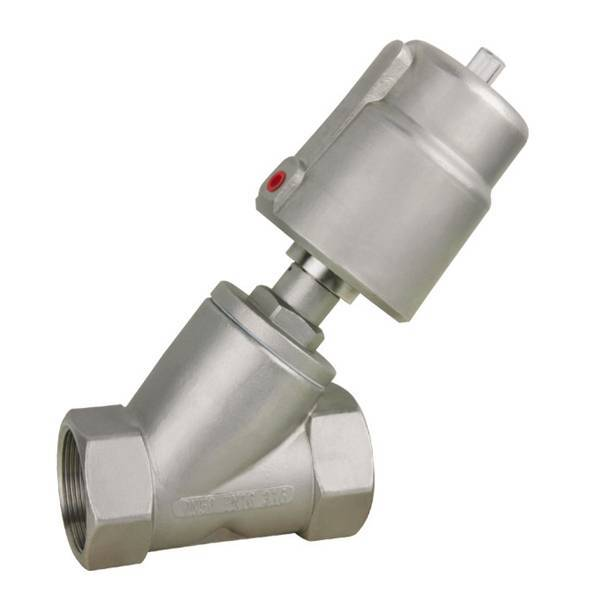 Pneumatic Angle Seat Valve With Stainless Steel 304