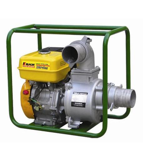 Water-powered water pumps. Hydraulic ram water pumps use downhill water pressure to pump water much higher than it started, with no other power needed.