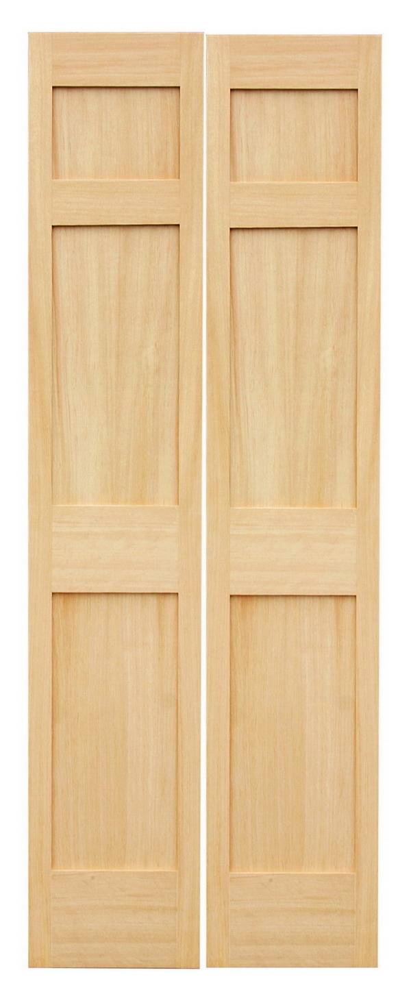 3 panel hemlock shaker bifold door zhejiang huayue wooden products co ltd - Shaker bifold closet doors ...