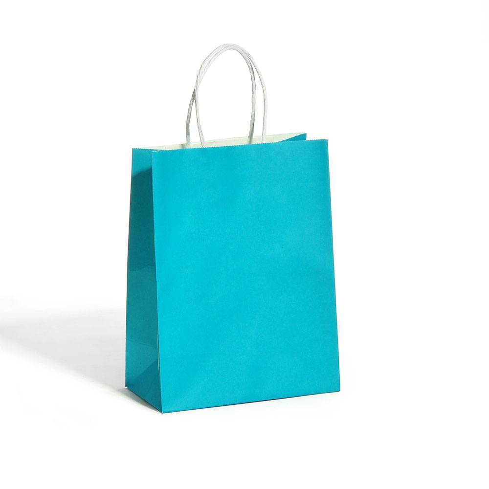Blue Kraft paper bag-1