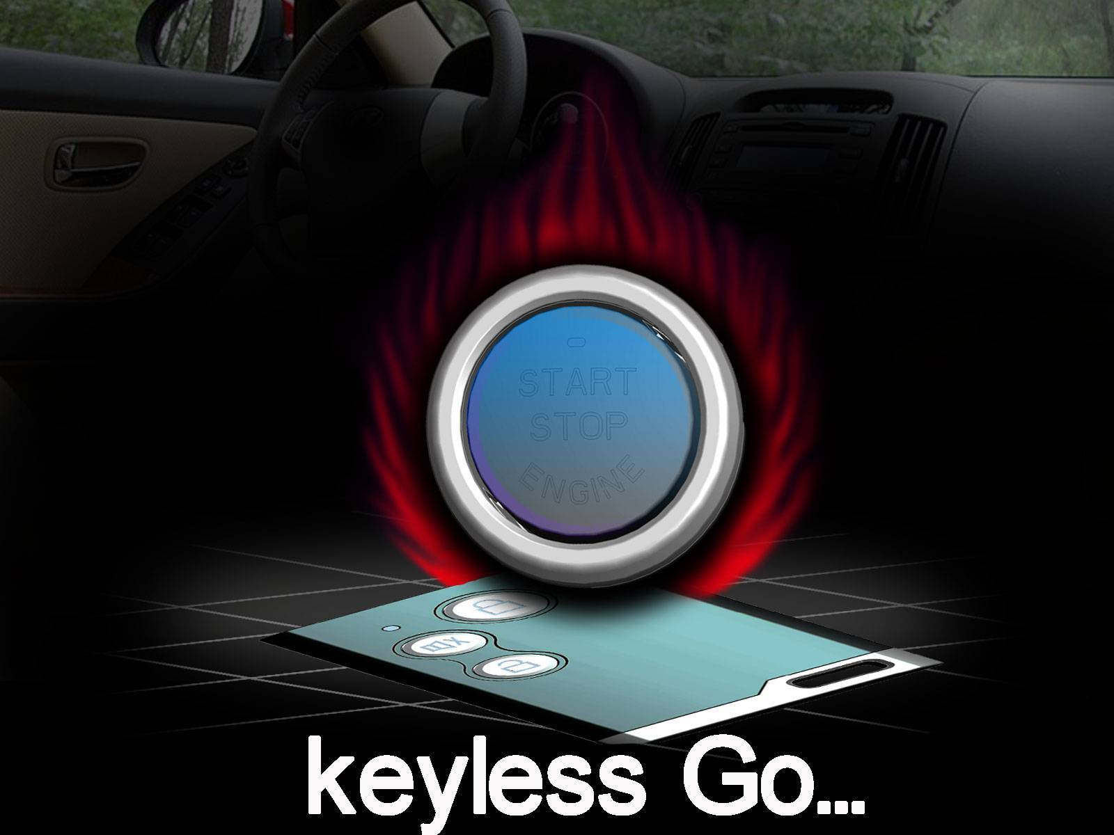 keyless go system with smartkey and engine start button. Black Bedroom Furniture Sets. Home Design Ideas