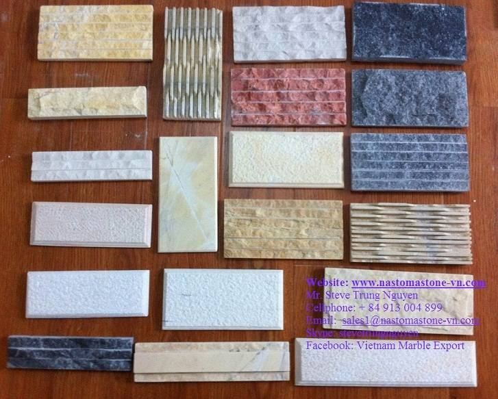 Chiselled marble wall tiles from nastoma stone vietnam for 14th floor records address